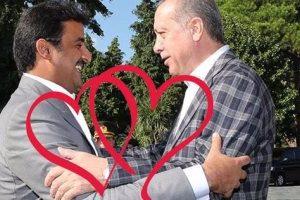 تميم بن حمد أمير قطر يغرد لرئيس تركيا على تويتر ويرسل له قلب أحمر