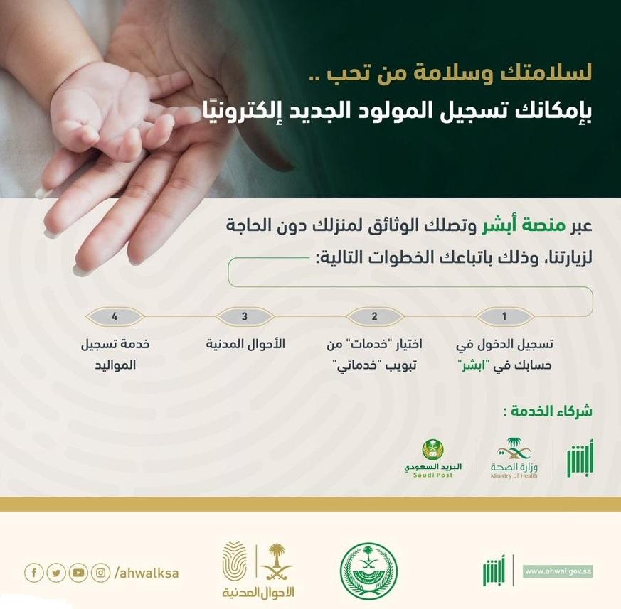 تسجيل مولود جديد في الاحوال المدنية